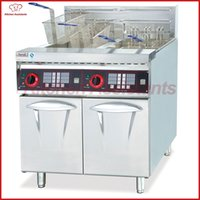 Wholesale free standing electric - DF26-2A free standing vertical electric fryer with timer with 2 tanks 4 baskets for food fried