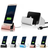 Wholesale micro usb stand charger online – Micro USB C Type C Desktop Dock Charging Charger Sync Cradle Station Holder Stand with Retail Box