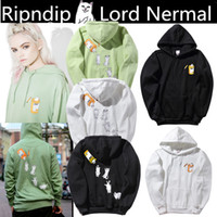Wholesale Green Litter - new 2018 high qaulity and hot Ripndip Nermal Pills Hoodie Base Cat Cat Litter Kitten Sweatshirt