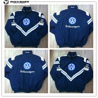 Wholesale volkswagen racing - 2018 VOLKSWAGEN Embroidery Cotton Nascar Moto Car Team Racing Jacket Suit