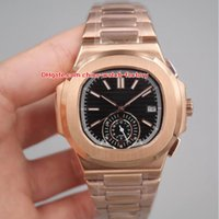 Wholesale ceramic classic - 3 Style Luxury High Quality Watch 40.5mm Nautilus 5980 1R-001 Classic 18k Rose Gold Sapphire Glass Asia Mechanical Automatic Mens Watches