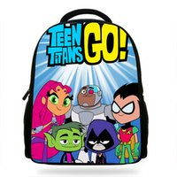 beliebte cartoon-rucksäcke großhandel-14Zoll Beliebte Cartoon Teen Titans gehen Drucken Rucksack Jungen Schule Tägliche Rucksäcke Kleine Kinder Rucksack KidsMochila