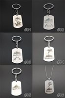 Wholesale P Pendants - 10 Designs Fortnite keychain necklace Hot&Classic FPS Game Fortnite Logo Necklace Stainless Steel Pendant Laser Printing Jewelry 10 p l