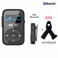 bluetooth mp3 band оптовых-RUIZU X26 Clip Bluetooth MP3 player 8GB 1.1'' Sport Bluetooth mp3 music player Voice Recorder FM Radio Support SD Card+Arm band