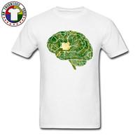 gömlekler yeni stiller resimler toptan satış-Yeni Stil Adam Tops Tees Baskılı Yeşil Anatomi Görüntü T Shirt Yaz / Sonbahar Tüm Pamuk O Boyun Erkek Üst T-Shirt Özel