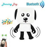 mini altofalante do bluetooth quadrado venda por atacado-Mini Alto-falante Bluetooth Dança Cão Multifuncional Estéreo Alto-falantes Bonito Dos Desenhos Animados Quadrado Inteligente Robô Dança Dog Speaker