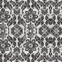 ingrosso carta da parati floreale nera per soggiorno-HaokHome Vintage Floral Damask Peel and Stick Carta da parati diamante Nero / Fungo Autoadesivo soggiorno Camera da letto home decor