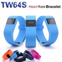 Wholesale tw64 smart fitness wristband online – TW64S Smart Bracelet Fitness Heart Rate Smart band Wristband Tracker Bluetooth Watch for ios android TW64 upgraded version