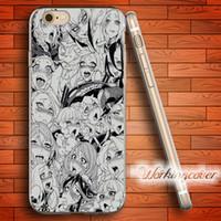 kızlar iphone cases 5s 5c toptan satış-Çapa Seksi AHEGAO KıZLAR Temizle TPU Silikon Kılıf iphone X 8 6 6 S 7 Artı 5 S SE 5 5C 4 S 4 Kılıf ipod touch 6 5 için Kapak.