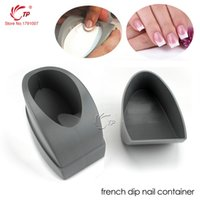 Wholesale Smile Line Nail Tips - Tp 1pc Dipping Powder French Manicure Molding Plastic Container Guides French Nails Tips Easy To Make White Pink Smile Line Tool