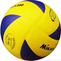 material de voleibol al por mayor-Ventas calientes Nueva marca Material de voleibol de tacto suave Tamaño de bola de la PU 5 Partido Calidad voleibol Envío gratis