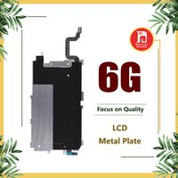 Wholesale extended cables - LCD Digitizer Metal Back Plate Shield Bezel + Long Home Button Extended Flex Cable For iPhone 6 6G 4.7 inch LCD Display