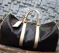 Wholesale leather mens duffle bag resale online - Keepall Travel Luggage Bag Damier Graphite PU Leather Handbag Men Travel Bags Mens Travel Totes Bag Mens Duffle Bag CM