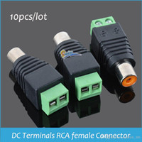 Wholesale Female Terminal - Sindax DC Terminals RCA female connector FCAT5 To Camera CCTV Video AV rca Terminals block RCA female jack Connectors 10pcs