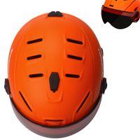 Discount helmet ce - Moon Goggles Skiing Helmet Integrally-molded PC+EPS CE Certificate Ski Helmet Outdoor Sports Ski Snowboard Skateboard
