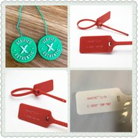 Wholesale shoelace ties online - Authentic Off Shoe Label Tag Red C C Zip Tie Green Circular Tag Plastic Shoe Buckle