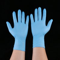 Wholesale thick latex - Rubber Cleaning Gloves Powder Free Nitrile Latex Gloves Disposable Anti-skid Acid Exam Convenient Dispenser Nitrile Glove CAN FBA HH7-462