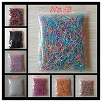 Wholesale Baby Hair Elastics - About 1000pcs bag (small package) 2018 New Child Baby Holders Rubber Bands Elastics Girl's Tie Gum Hair Accessories