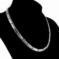 ingrosso energia titanica-collana di gioielli sani collana di acciaio magnetico di titanio per gli uomini sana moda calda senza spedizione