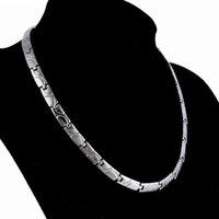 freie energie energie großhandel-designer schmuck gesunde halskette titanium stahl magnetische energie halskette für männer gesunde heiße mode versandkostenfrei