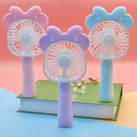 Wholesale cartoon folding fan for sale - Group buy Mini Folding Portable Cartoon Fan USB Rechargeable Handheld Air Cooler Cooling Fan Kids Gifts Toys FFA174