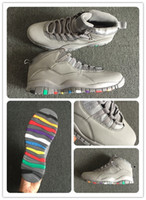 Wholesale men leather boots online resale online - 10 Cool Grey Basketball Shoes s X Im Back Men Sports Shoes Training Boots Fashion Running Shoes Mens Athletics Online Cheap Sale with box