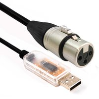 usb xlr venda por atacado-USB RS485 para Adaptador de Interface DMX512 LED Computador DMX512 PC Controle de Iluminação de Palco Cabo Freestyler Download cabo usb ftd rs485 xlr dmx