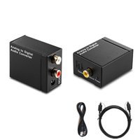 Wholesale toslink converters - EDD Digital Optical Toslink SPDIF Coax to Analog L R RCA Audio Converter Adapter HMP_40M