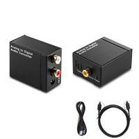 Wholesale r l audio - EDD Digital Optical Toslink SPDIF Coax to Analog L R RCA Audio Converter Adapter HMP_40M
