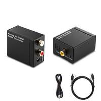 rca koaks adaptörü toptan satış-EDD Dijital Optik Toslink SPDIF Koaksiyel Analog L / R RCA Ses Dönüştürücü Adaptör HMP_40M