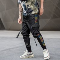 Wholesale green harem trousers mens resale online - Mens Hip Hop Camo Ripped Sweatpants Joggers Trousers Male Fashion Full Length Pants