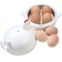 устройство для яиц оптовых-Яйцо пароход курица форма из нержавеющей стали микроволновая печь 4 яйца вареные инструменты плита паровое устройство товары на складе 9cd V