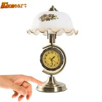 Wholesale Nickel Resin - E27 USA Retro Touch Table Lamp Bedroom Bed Lamp Adjustable and Clock Decoration Living Room Table 110-240V
