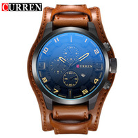 Wholesale curren white - Relogio masculino CURREN Watch Men Military Quartz Watch Mens Watches Top Brand Luxury Leather Sports Wristwatch Date Clock 8225