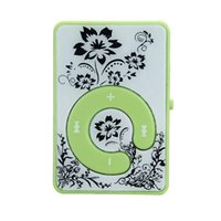 Wholesale flower player resale online - Mini Clip Flower Pattern MP3 Player Music Media Support Micro SD TF Card Good Sale Mini Clip Flower Pattern MP3 Player Z1019