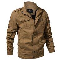 ingrosso grandi abiti da uomo-M-6XL giacca da uomo di grandi dimensioni militare multi-tasca giacca a vento europea e americana giacca da uomo 3D