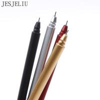 gel gratuit x achat en gros de-1 X creative poignée en métal gel stylo stylos d'écriture papeterie canetas matériel escolar fournitures scolaires Livraison gratuite