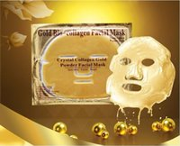 ingrosso migliori maschere di collagene-2018 oro 24K sbiancamento della pelle perla maschera viso maschera facciale d'oro sbiancante con FDA più venduta anti-invecchiamento maschera facciale collagene d'oro