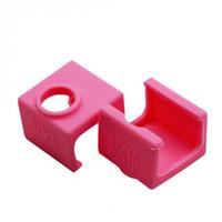 impresora de aluminio al por mayor-Los calcetines de silicona para fundas de silicona para el bloque de calentador 3D MK10 forman parte de la impresora XXM8