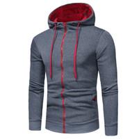 Wholesale creed jacket hoodie resale online - Fashion Brand Hoodies Men Sweatshirt Male Zipper Hooded Jacket Casual Sportswear Moleton Masculino Men Hoodie Creed Outwear