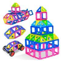 brinquedos educativos blocos de construção magnéticos venda por atacado-Atacado-2018 novos blocos magnéticos brinquedos modelo de construção magnética blocos de construção designer crianças brinquedos educativos para crianças