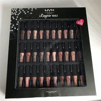 Wholesale Professional Lingerie - Professional Makeup NYX Lingerie Vault Lipstick Sets Matte Lip Cream 36 Colors Brands Liquid Cosmetics Lip Gloss Make Up Kit 2018 Hot Sell