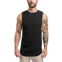 beyaz bükümlü kıyafetler toptan satış-Erkekler Çizgili Anti-Ter Tankı Üstleri Siyah Beyaz Bordo Hızlı Kuru Koşu Vücut Geliştirme Ince Yelek Atlet Kolsuz Giyim JRBX004