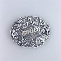 rodeo gürtel großhandel-New Vintage versilbert Rodeo Cowboy Mann westlichen Gürtelschnalle Gürtelschnalle Boucle de Ceinture
