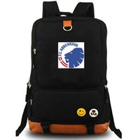 Wholesale team soccer bags for sale - FC Copenhagen backpack Byens Hold daypack Football club schoolbag Soccer team rucksack Canvas school bag Outdoor day pack