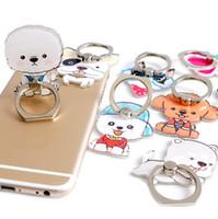 подставка для iphone оптовых-Универсальный 360 градусов собака шаблон палец кольцо держатель телефона кольцо стенд поддержка iPhone 8 Samsung Huawei мобильные телефоны