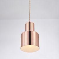 простые кухни оптовых-Современный мини простой дизайн металлический подвесной светильник E27 LED подвесные светильники лампа для кухни кухонные светильники pendente для столовой спальни