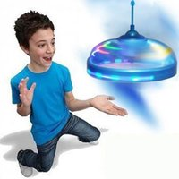 Wholesale Fashion Discs - New Fashion Kids Toys Sensor Flying Saucer UFO Hand Induced Hovering Floating Flight Hand Movements Toy UFO Sports Toys Outdoor Play