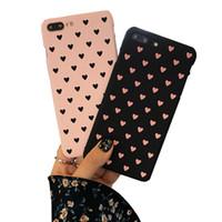 caso telefone coreia venda por atacado-Coréia do sul rosa amor bonito phone case capa para iphone 6 s shell do telefone para iphone 7 plus hard shell estojo de proteção