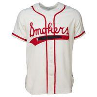 pelota tampa al por mayor-Tampa Smokers 1951 Home Jersey 100% bordado cosido Logos Vintage Baseball Jerseys Custom Cualquier nombre Cualquier número Envío gratis